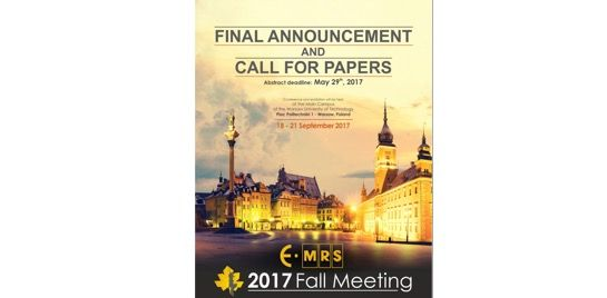 E-MRS Fall Meeting 2017 – Symposium Q: Synchrotron radiation and atomic layer deposition for advanced materials