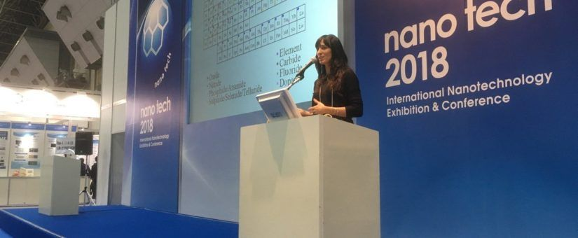 CTECHnano´s presentation by Mercedes Vila at the main theater of the NANOTECH Japan 2018-Graphene and 2D materials session