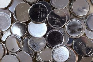 Large lot of button cell batteries