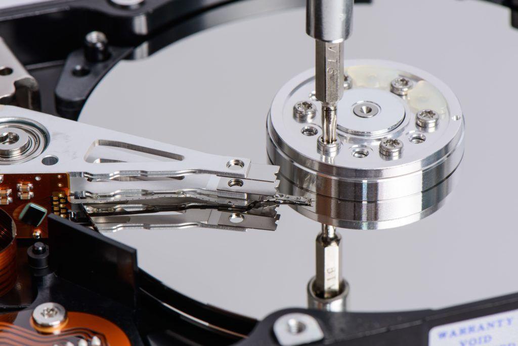 disassemble Hard disk drive